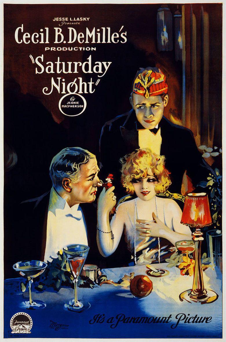 Saturday Night (1922 film) movie poster