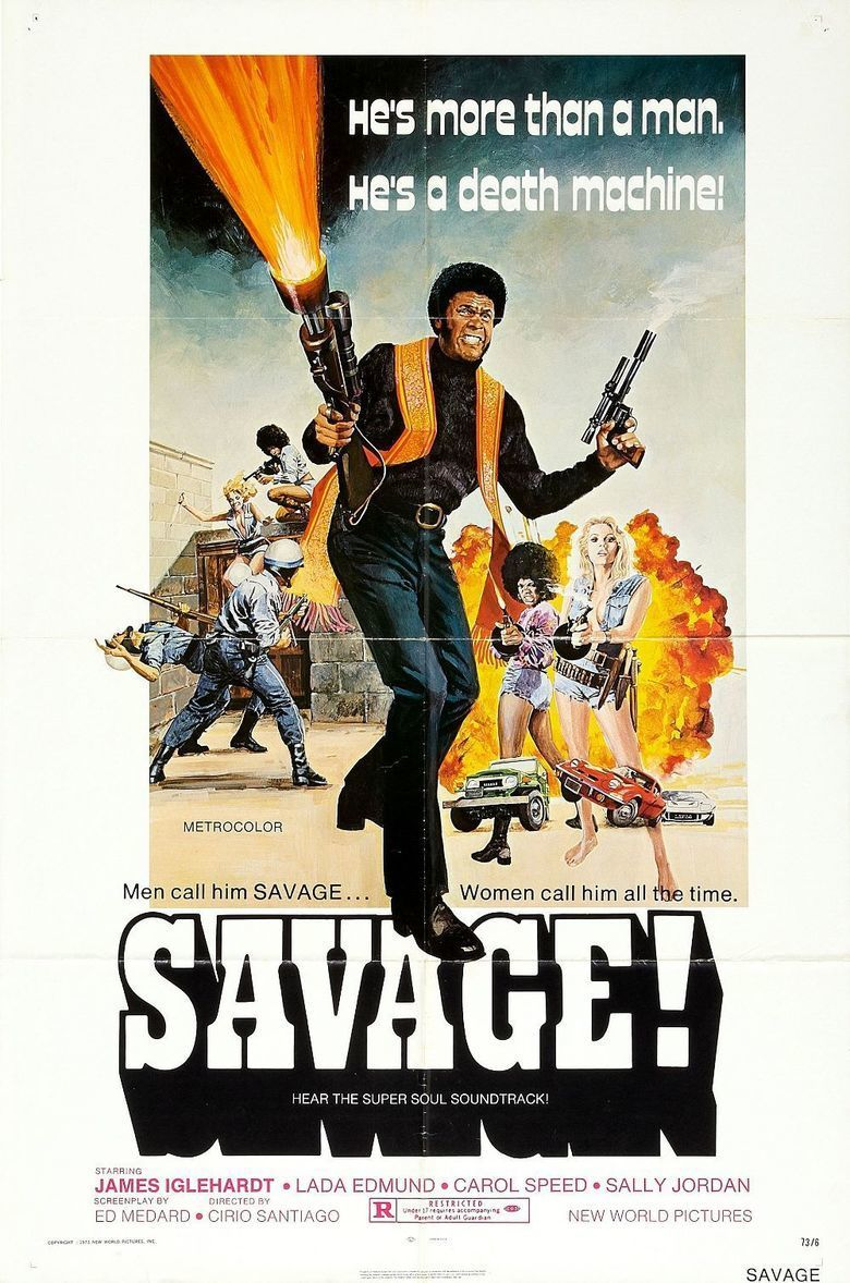 Savage (1973 film) movie poster