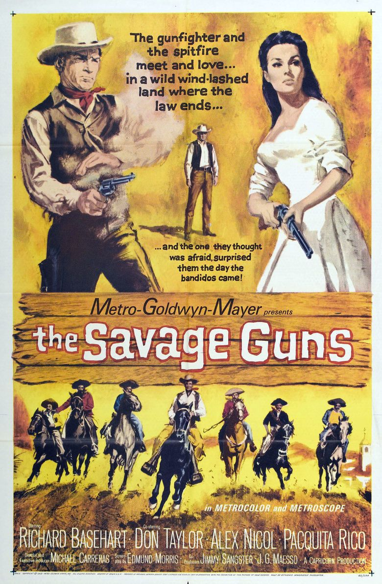 Savage Guns (1961 film) movie poster