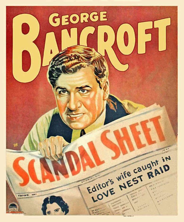 Scandal Sheet (1931 film) movie poster