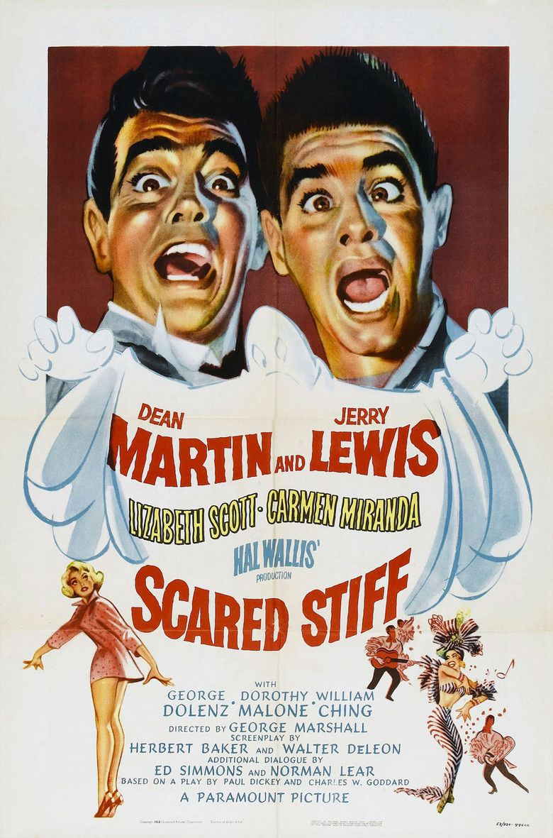 Scared Stiff (1953 film) movie poster