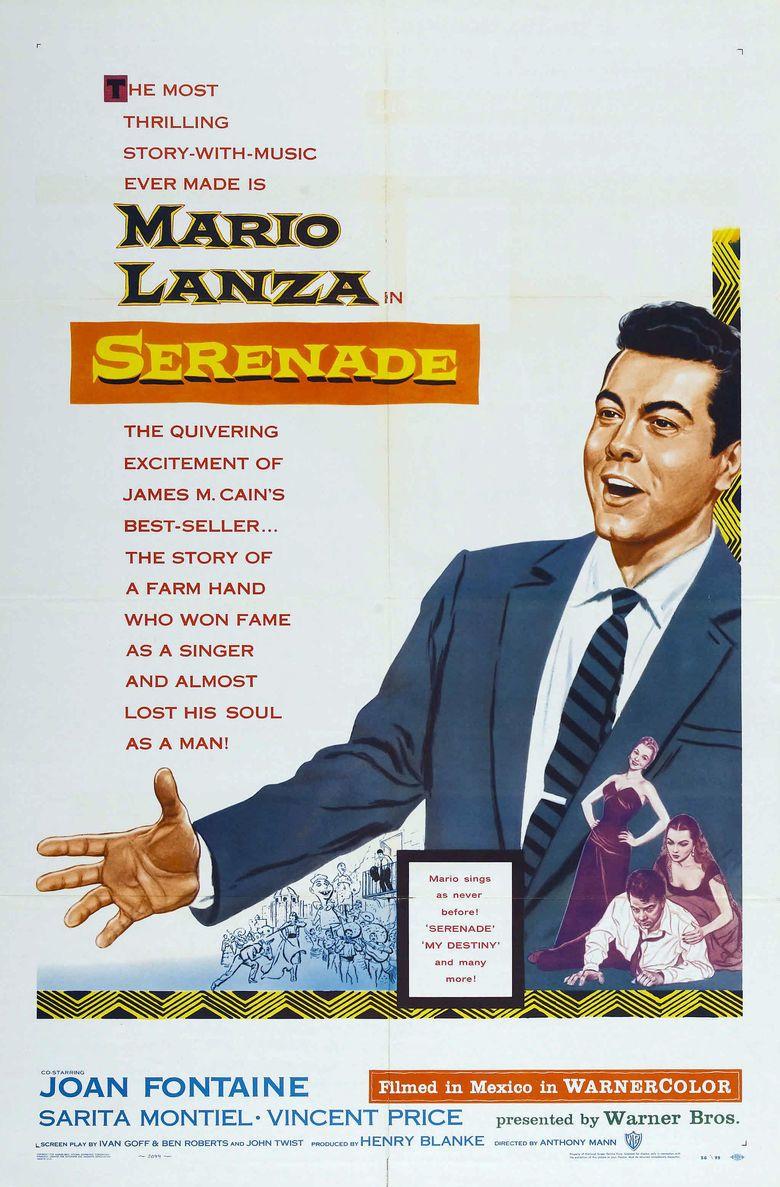 Serenade (1956 film) movie poster