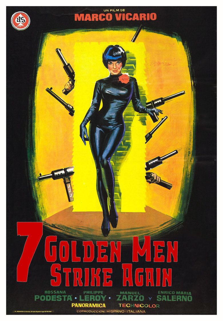 Seven Golden Men Strike Again movie poster