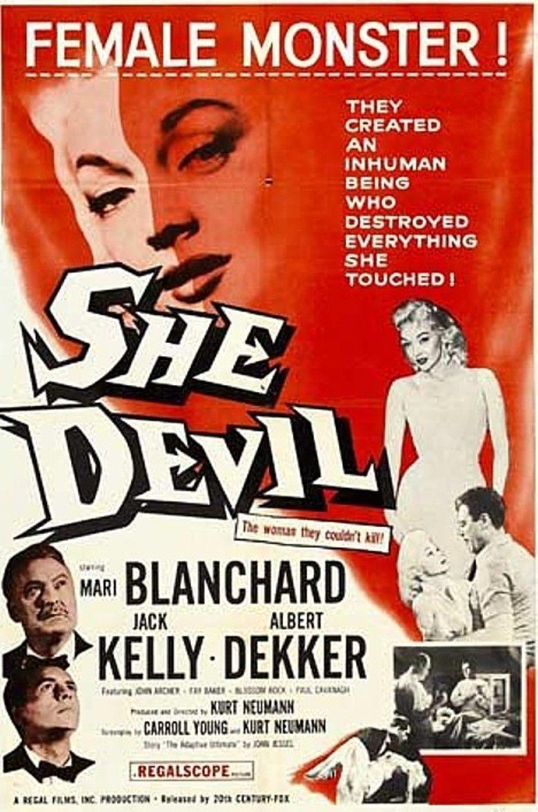 She Devil (1957 film) movie poster