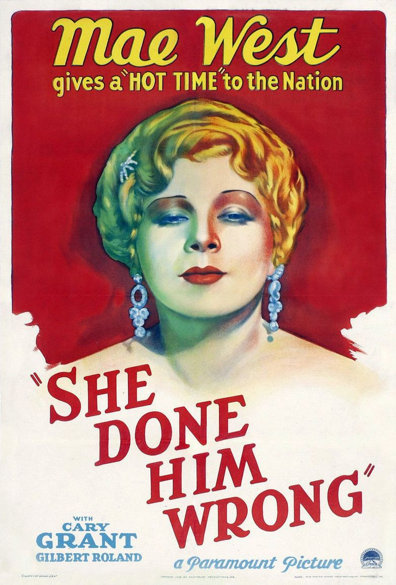 She Done Him Wrong movie poster