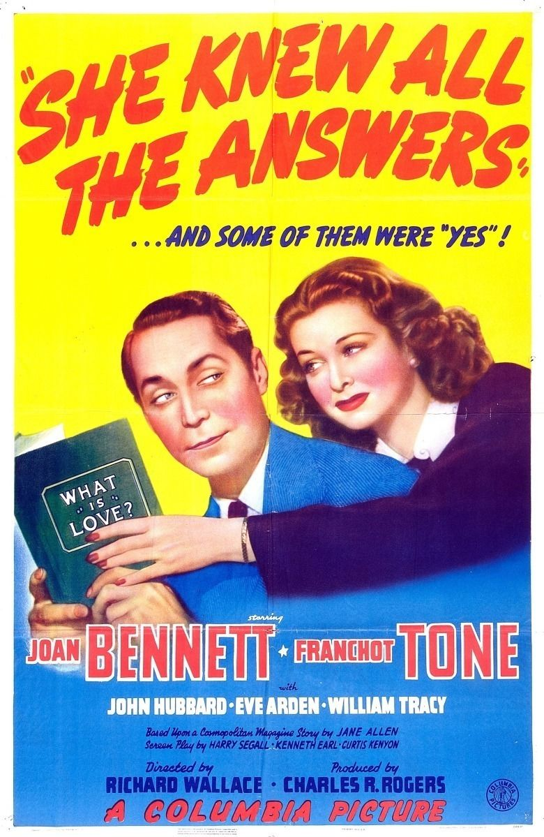 She Knew All the Answers movie poster