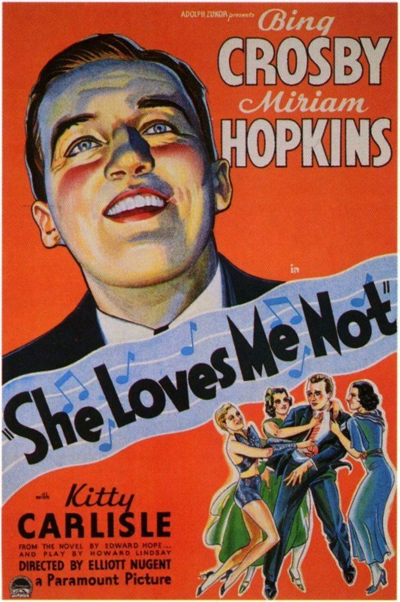 She Loves Me Not (1934 film) movie poster