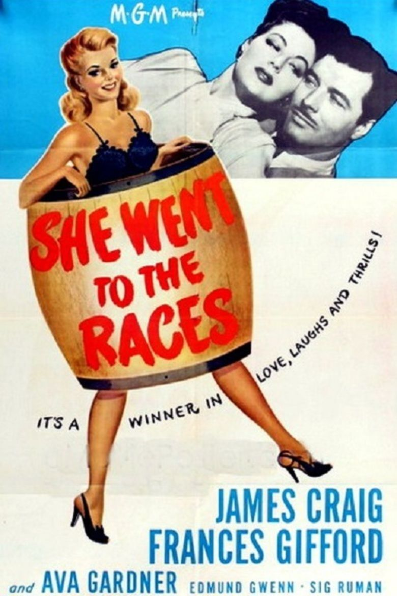 She Went to the Races movie poster