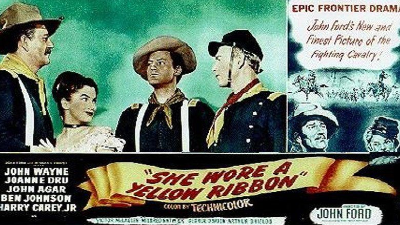 She Wore a Yellow Ribbon movie scenes
