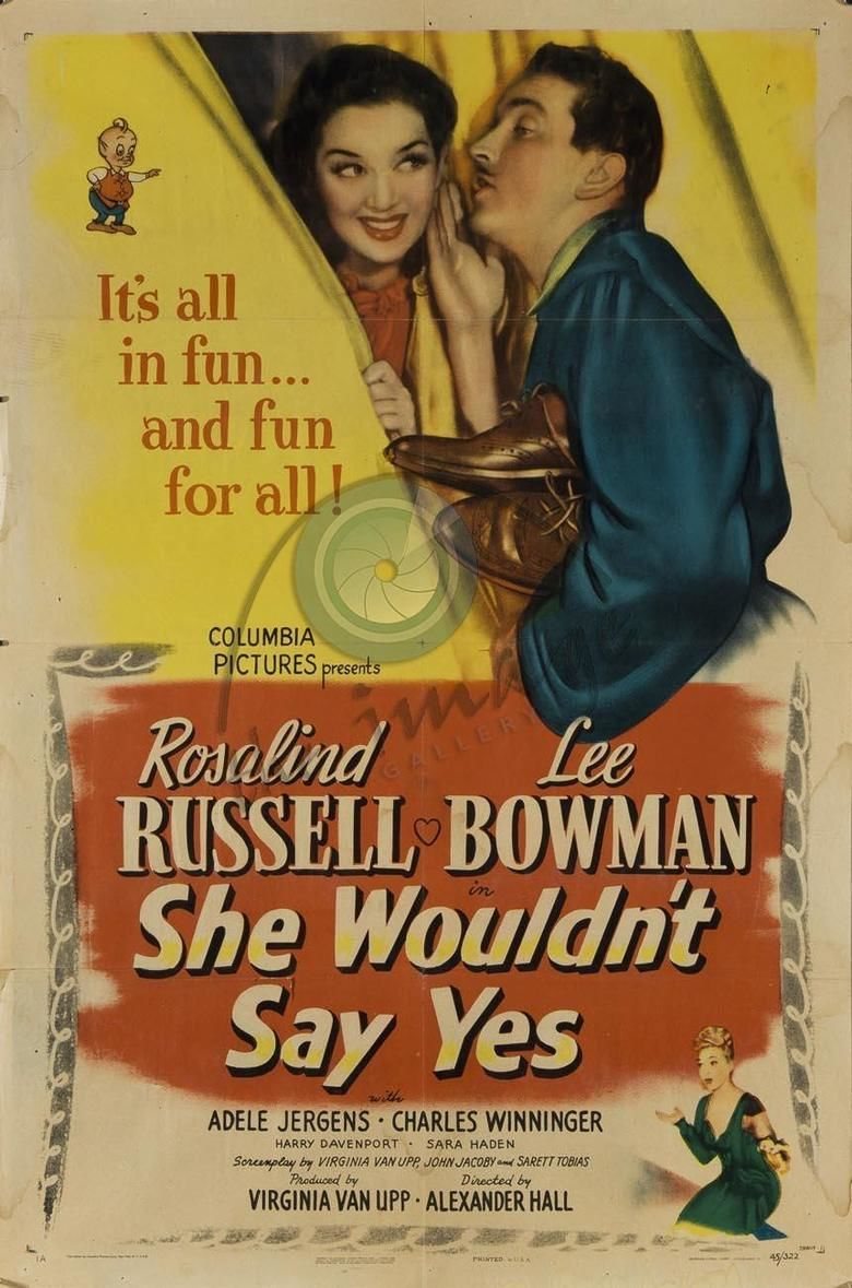 She Wouldnt Say Yes movie poster