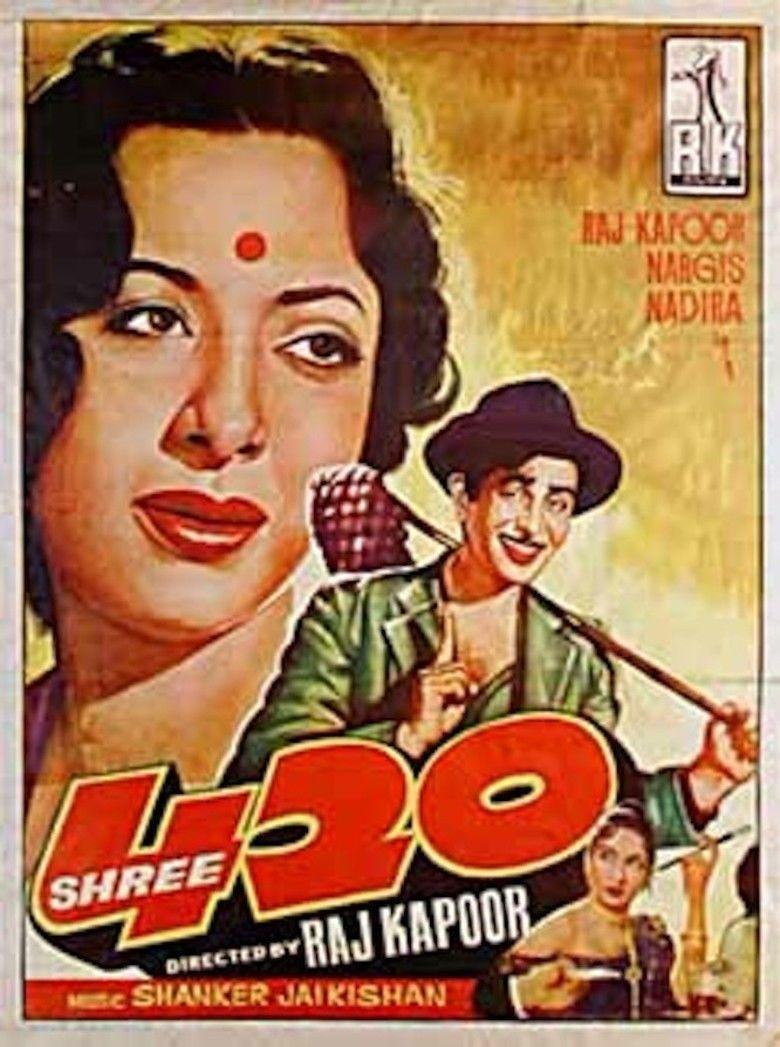 Shree 420 movie poster