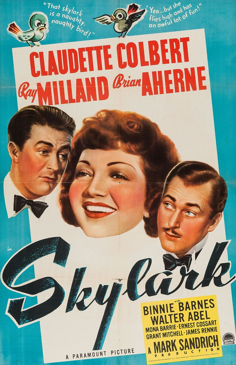 Skylark (1941 film) movie poster