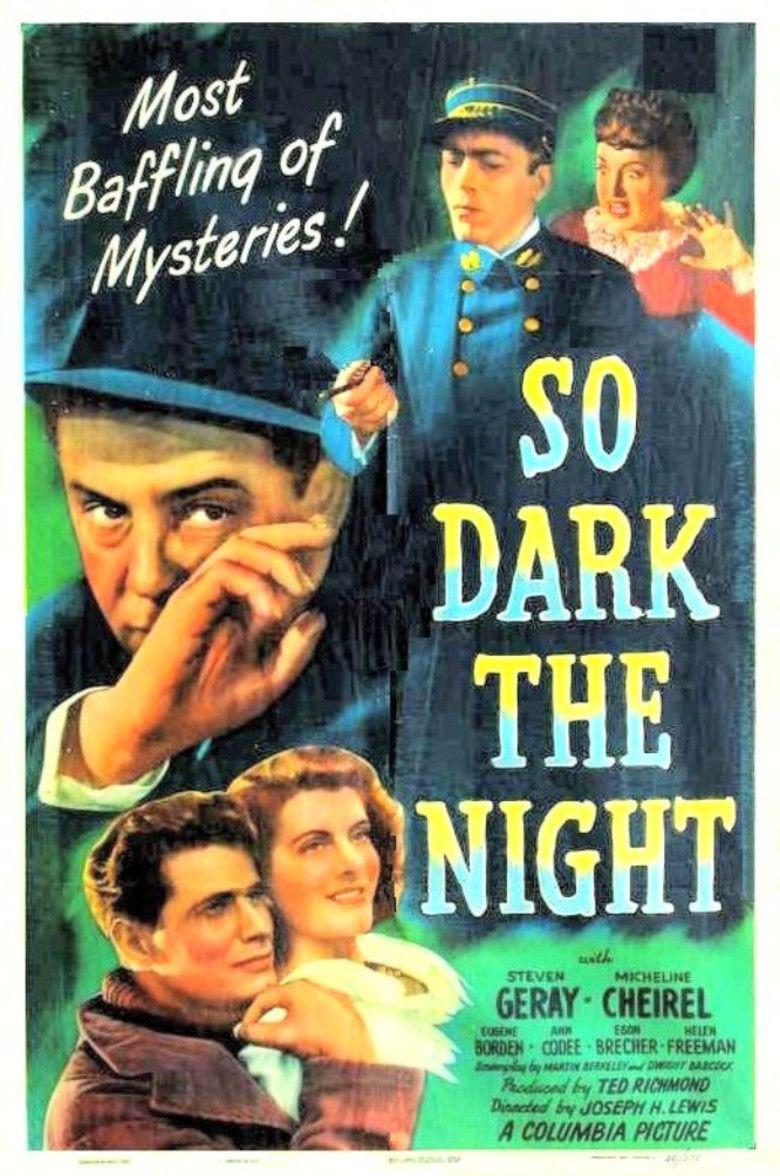 So Dark the Night movie poster
