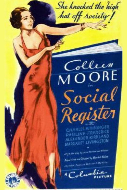 Social Register (film) movie poster