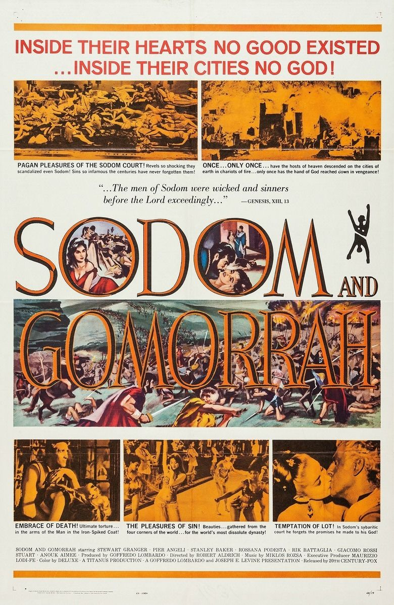 Sodom and Gomorrah (1962 film) movie poster