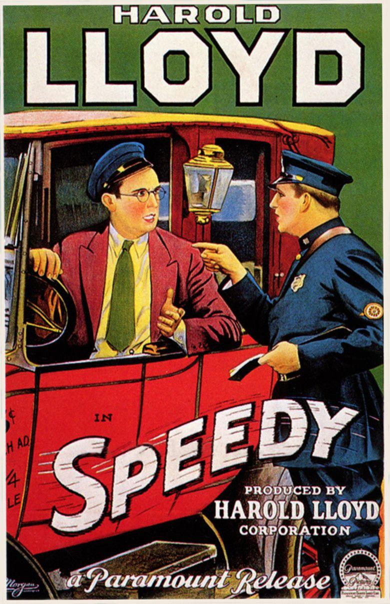 Speedy (film) movie poster