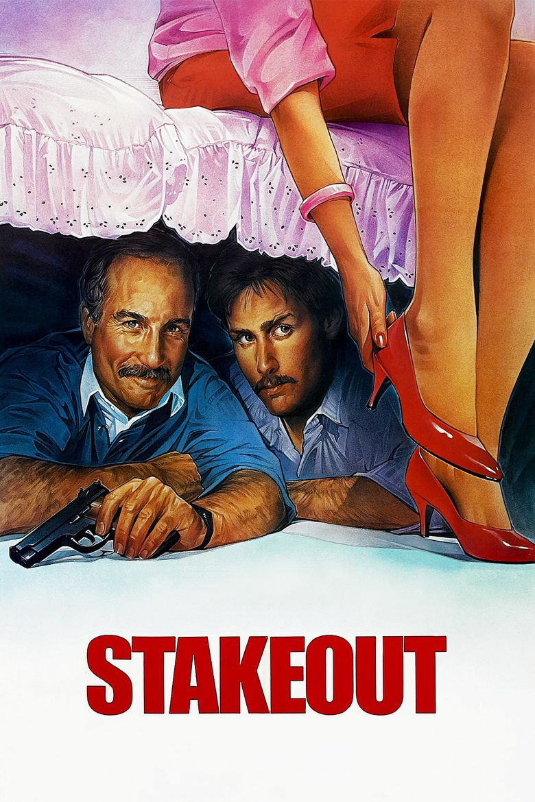 Stakeout (1987 film) movie poster