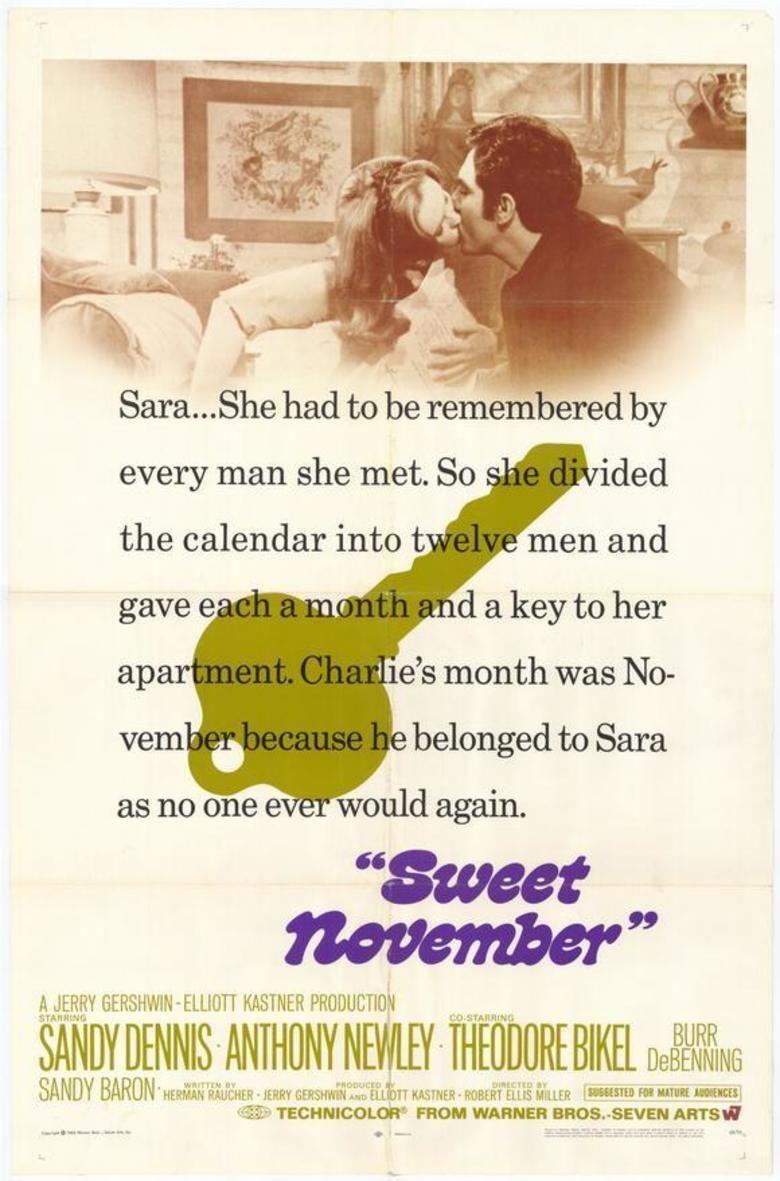 Sweet November (1968 film) movie poster