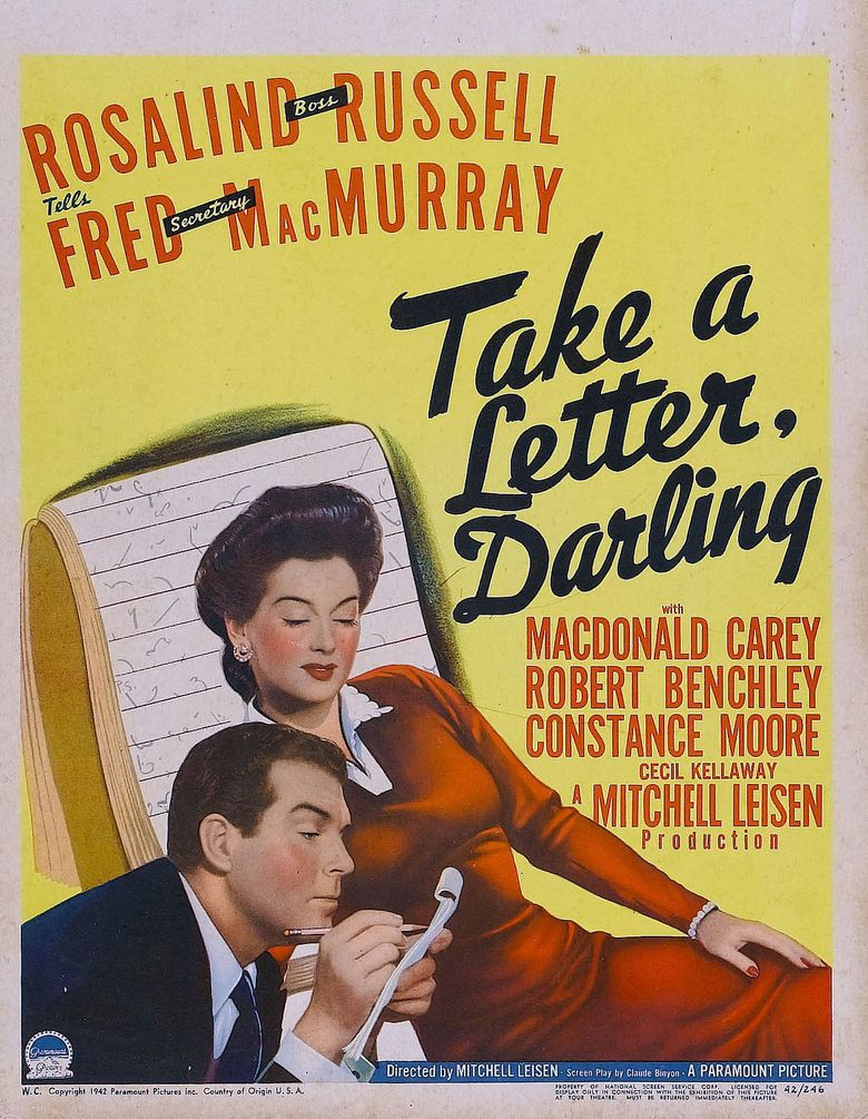 Take a Letter, Darling movie poster