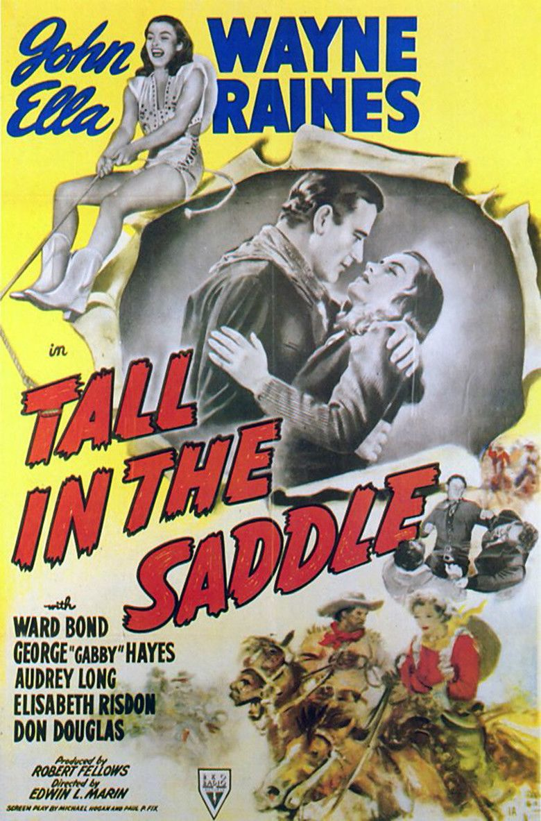 Tall in the Saddle movie poster