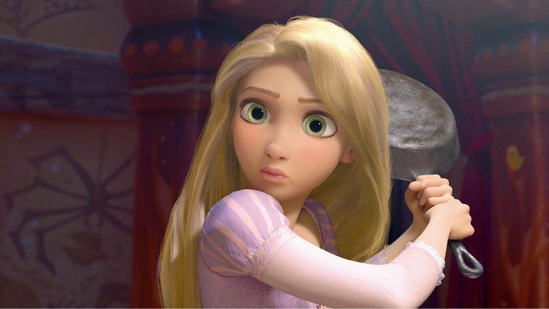 Tangled movie scenes