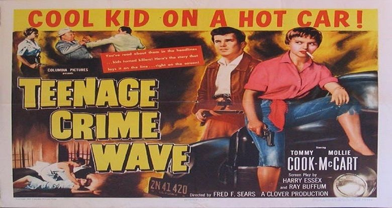 Teen Age Crime Wave movie scenes