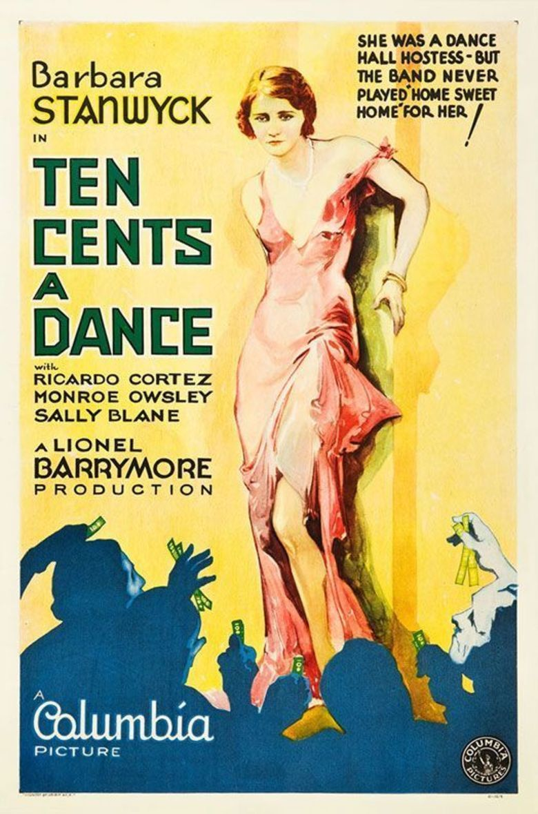 Ten Cents a Dance (1931 film) movie poster