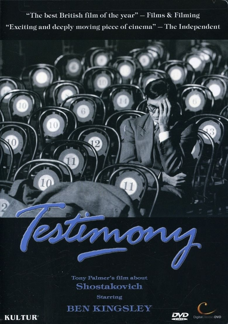 Testimony (1988 film) movie poster