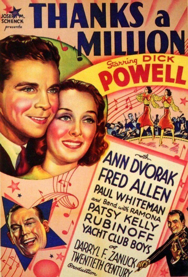 Thanks a Million movie poster