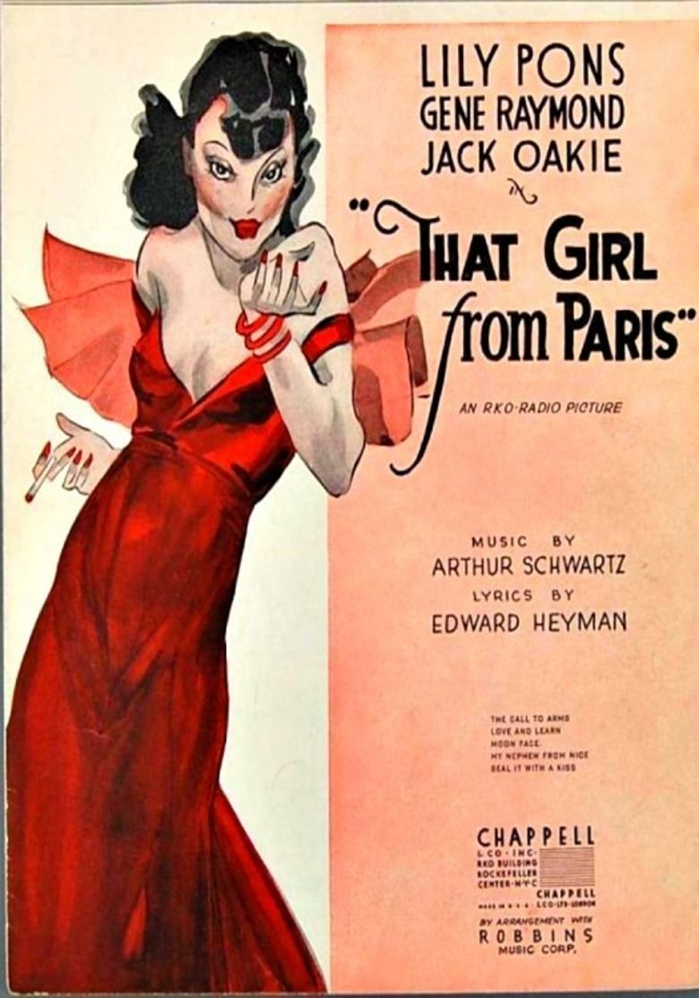 That Girl from Paris movie poster
