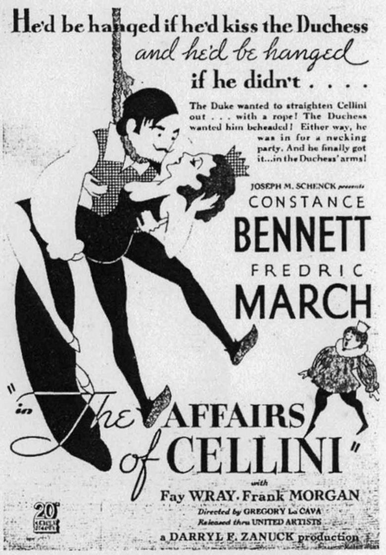 The Affairs of Cellini movie poster