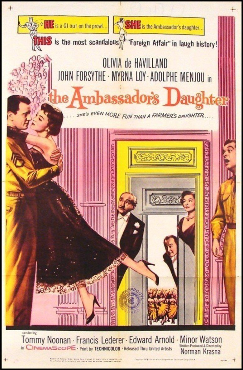 The Ambassadors Daughter (1956 film) movie poster
