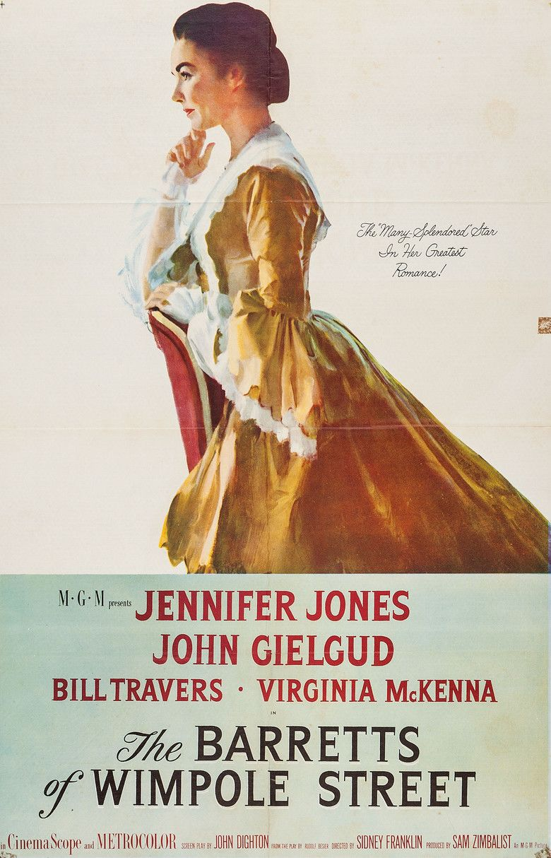 The Barretts of Wimpole Street (1957 film) movie poster