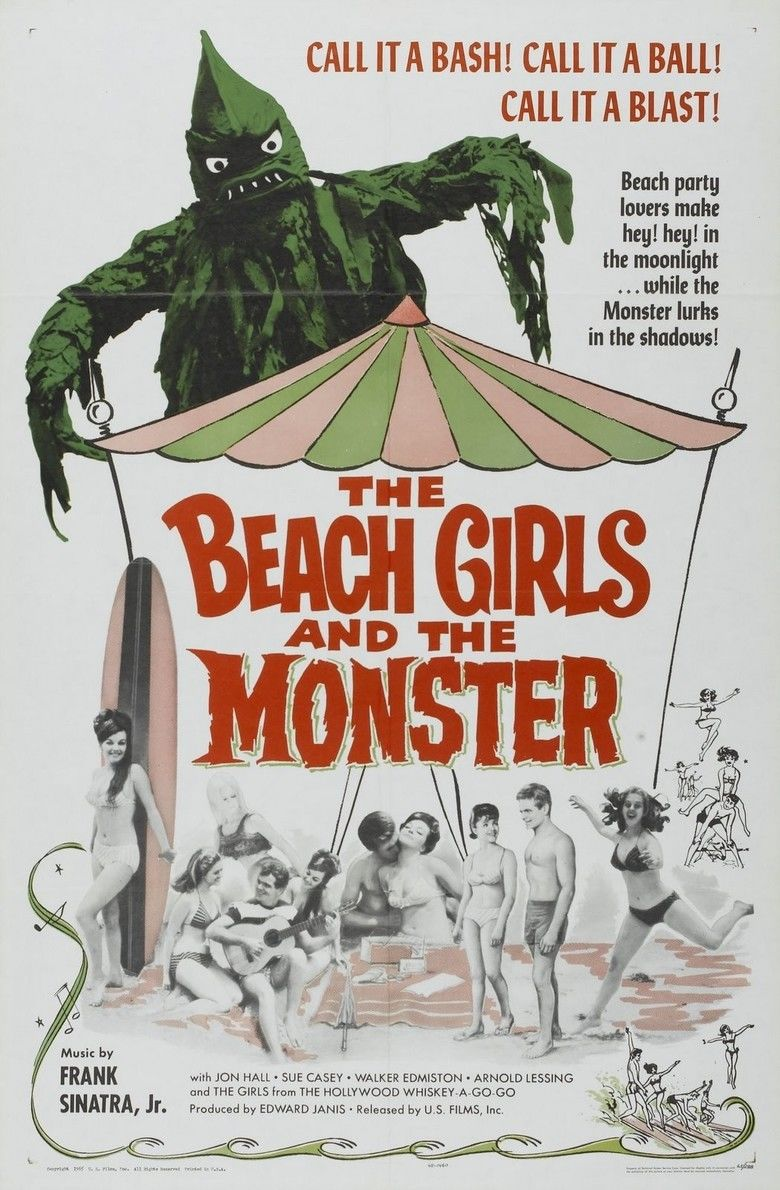 The Beach Girls and the Monster movie poster