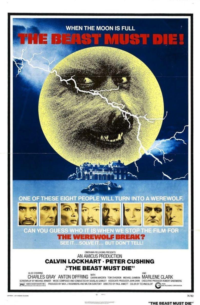 The Beast Must Die (1974 film) movie poster