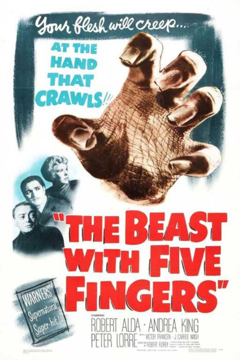 The Beast with Five Fingers movie poster