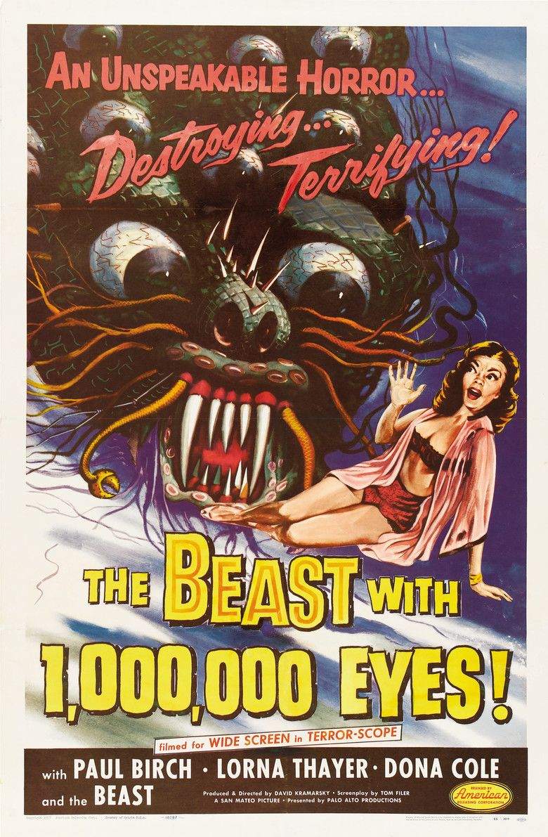 The Beast with a Million Eyes movie poster