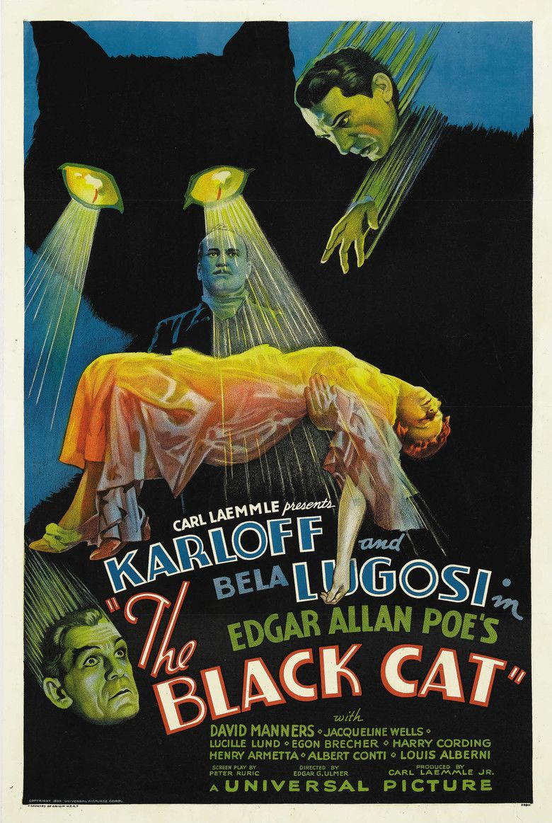 The Black Cat (1934 film) movie poster
