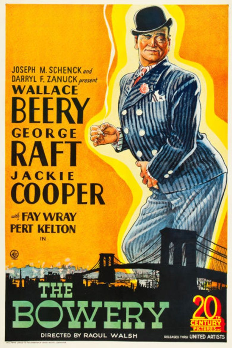 The Bowery (film) movie poster