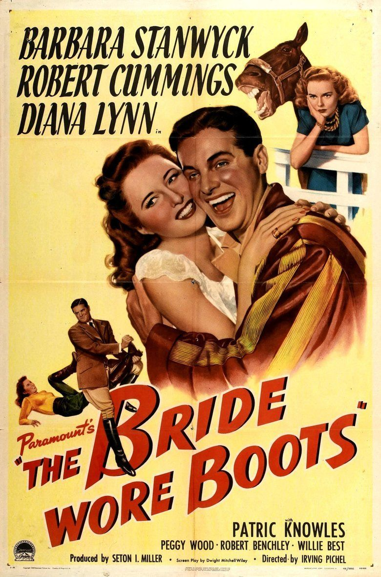 The Bride Wore Boots movie poster