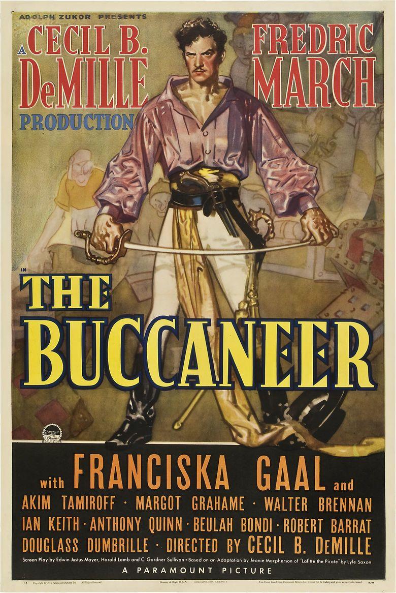 The Buccaneer (1938 film) movie poster