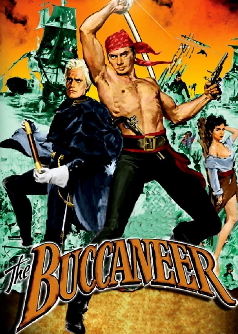 The Buccaneer (1958 film) movie poster