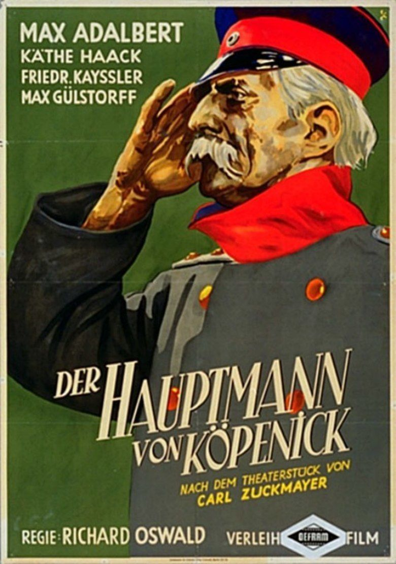 The Captain from Kopenick (1931 film) movie poster