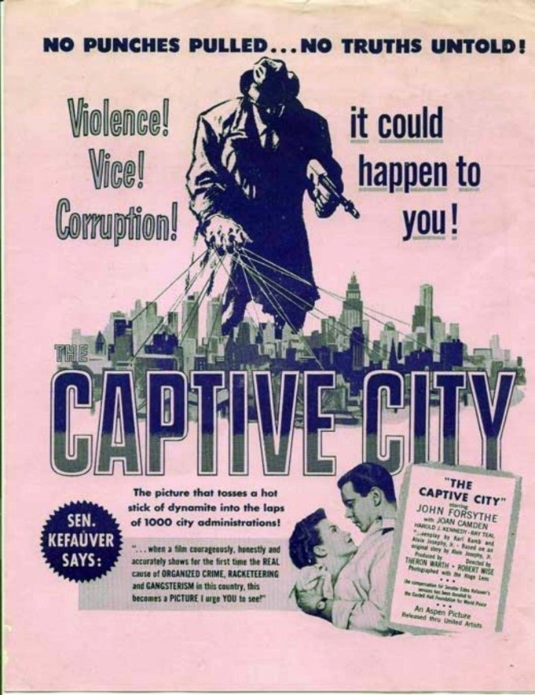 The Captive City (1952 film) movie poster