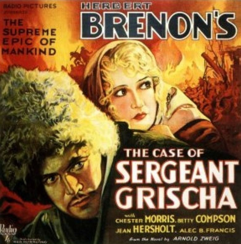 The Case of Sergeant Grischa (film) movie poster