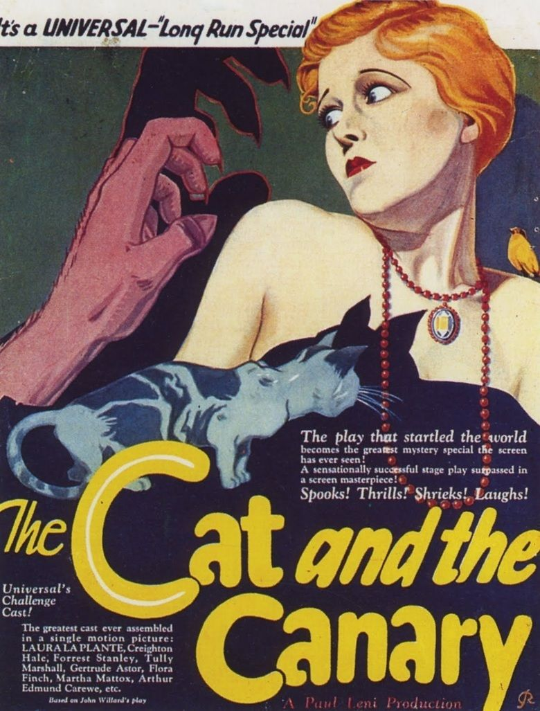 The Cat and the Canary (1927 film) movie poster