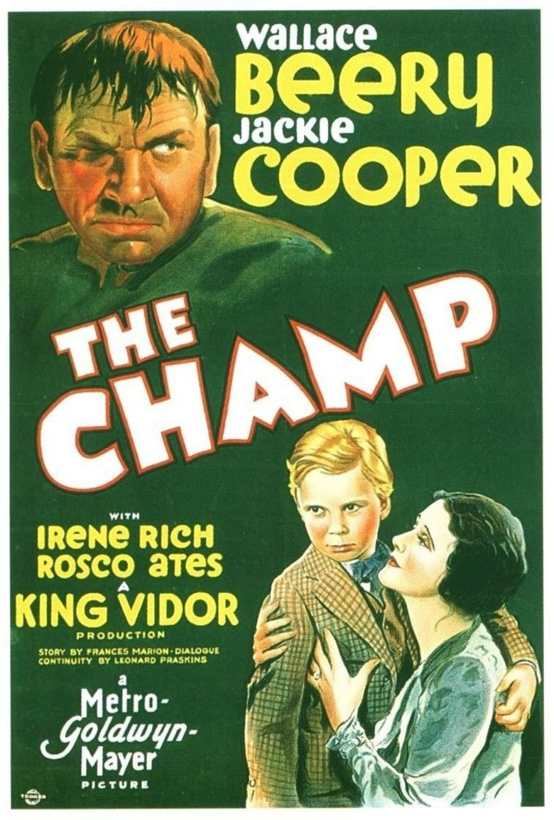 The Champ (1931 film) movie poster