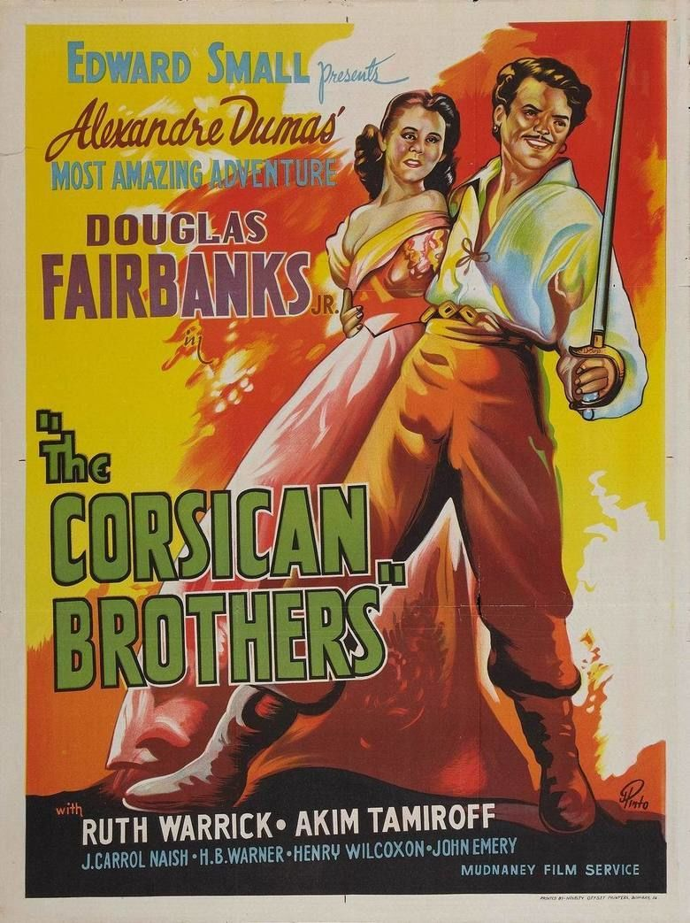 The Corsican Brothers (1941 film) movie poster