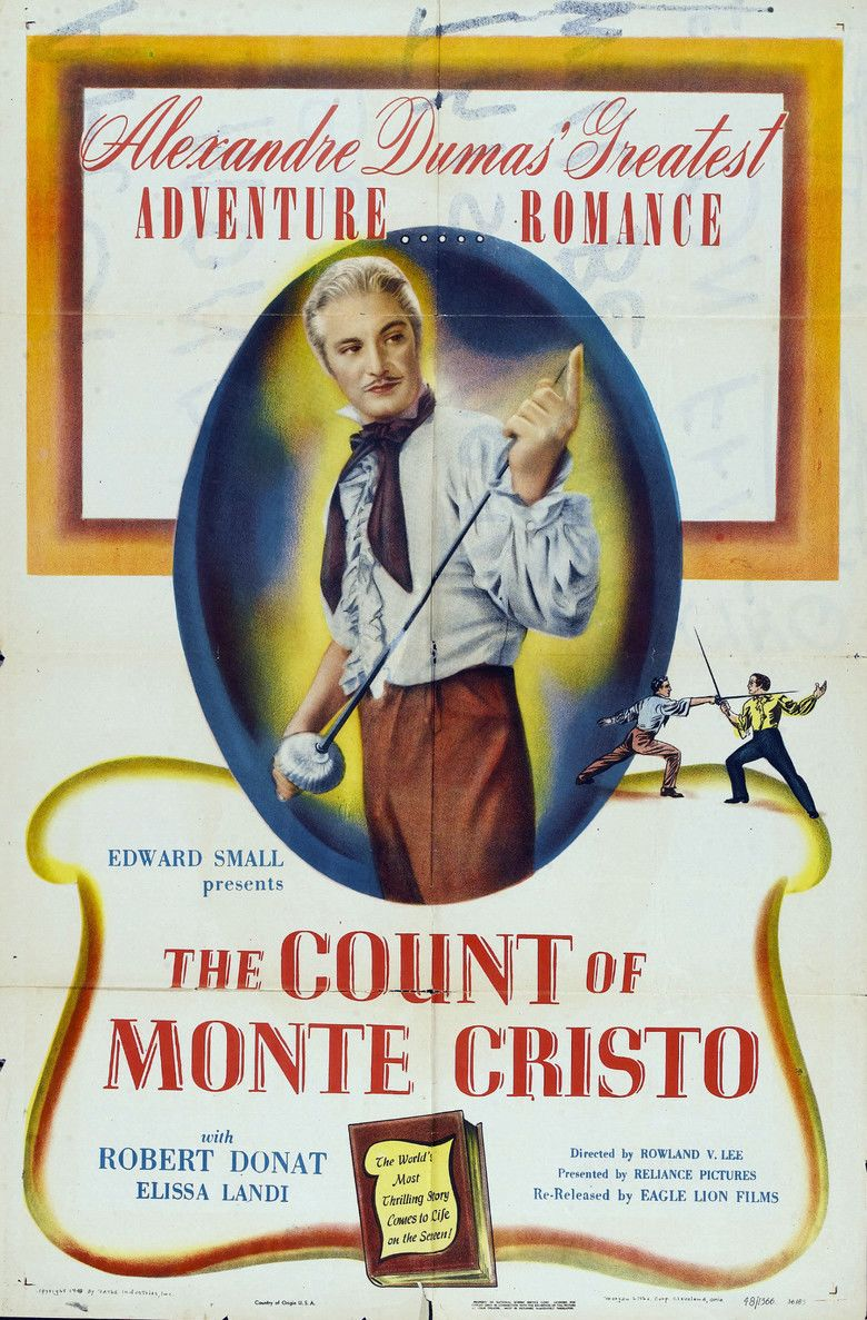 The Count of Monte Cristo (1934 film) movie poster