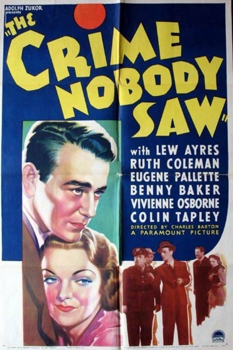 The Crime Nobody Saw movie poster
